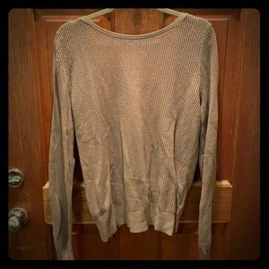 Brown sweater with open back